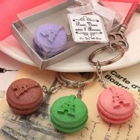 Adorable Macaroon Design Key Ring Favour